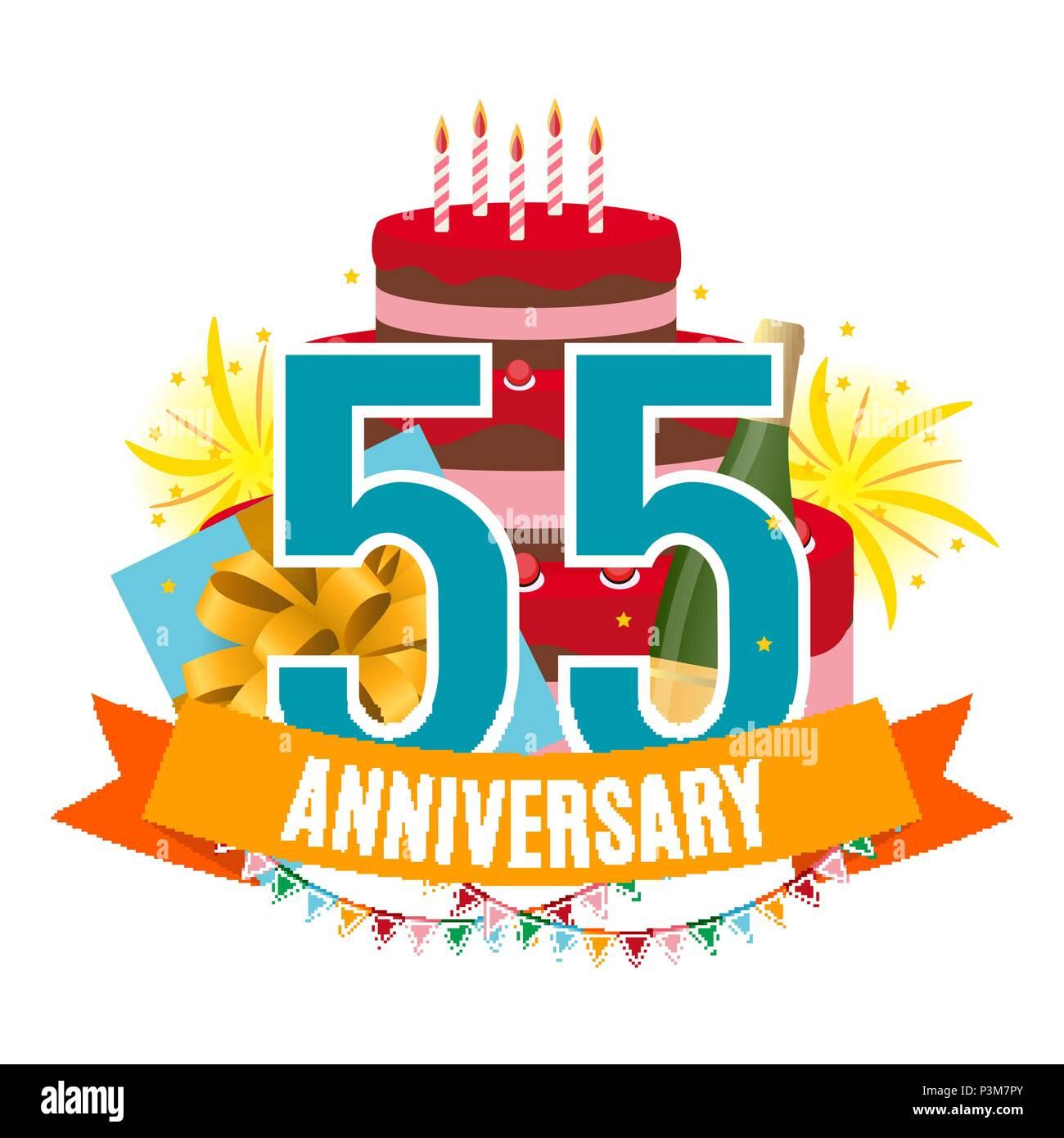Anniversario Matrimonio 55 Anni Regalo.Modello 55 Anni Di Anniversario Congratulazioni Biglietto Di