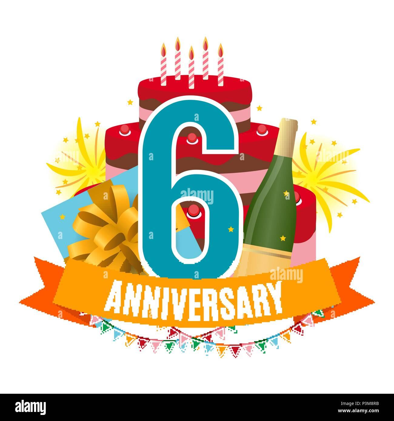 Anniversario Matrimonio Sei Anni.Dima 6 Anni Di Anniversario Congratulazioni Biglietto Di Auguri