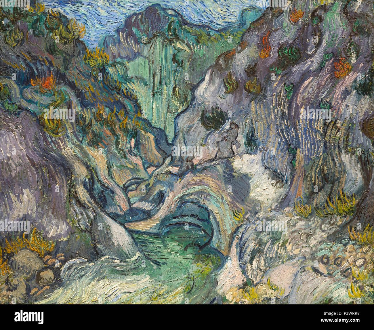 Orrido, Vincent van Gogh, 1889, il Museo delle Belle Arti di Boston, Massa, Stati Uniti d'America, America del Nord Foto Stock