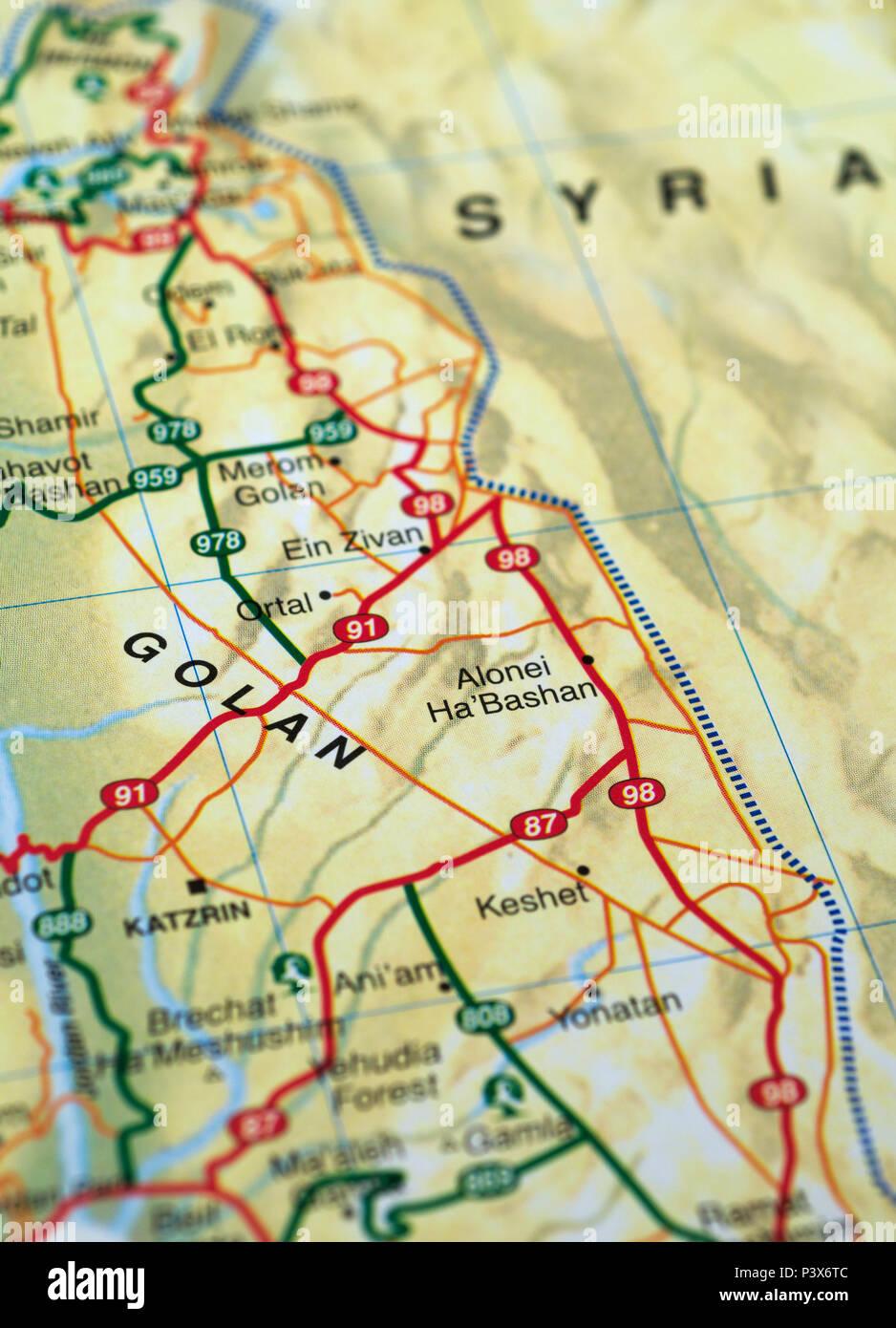 Cartina Stradale Israele.Israele Mappa Stradale Foto Stock Alamy