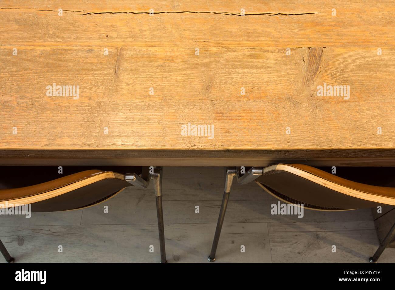 Sedie Moderne Design In Legno.Tavolo In Legno Con Sedie Moderne Vista Dall Alto Interior Design