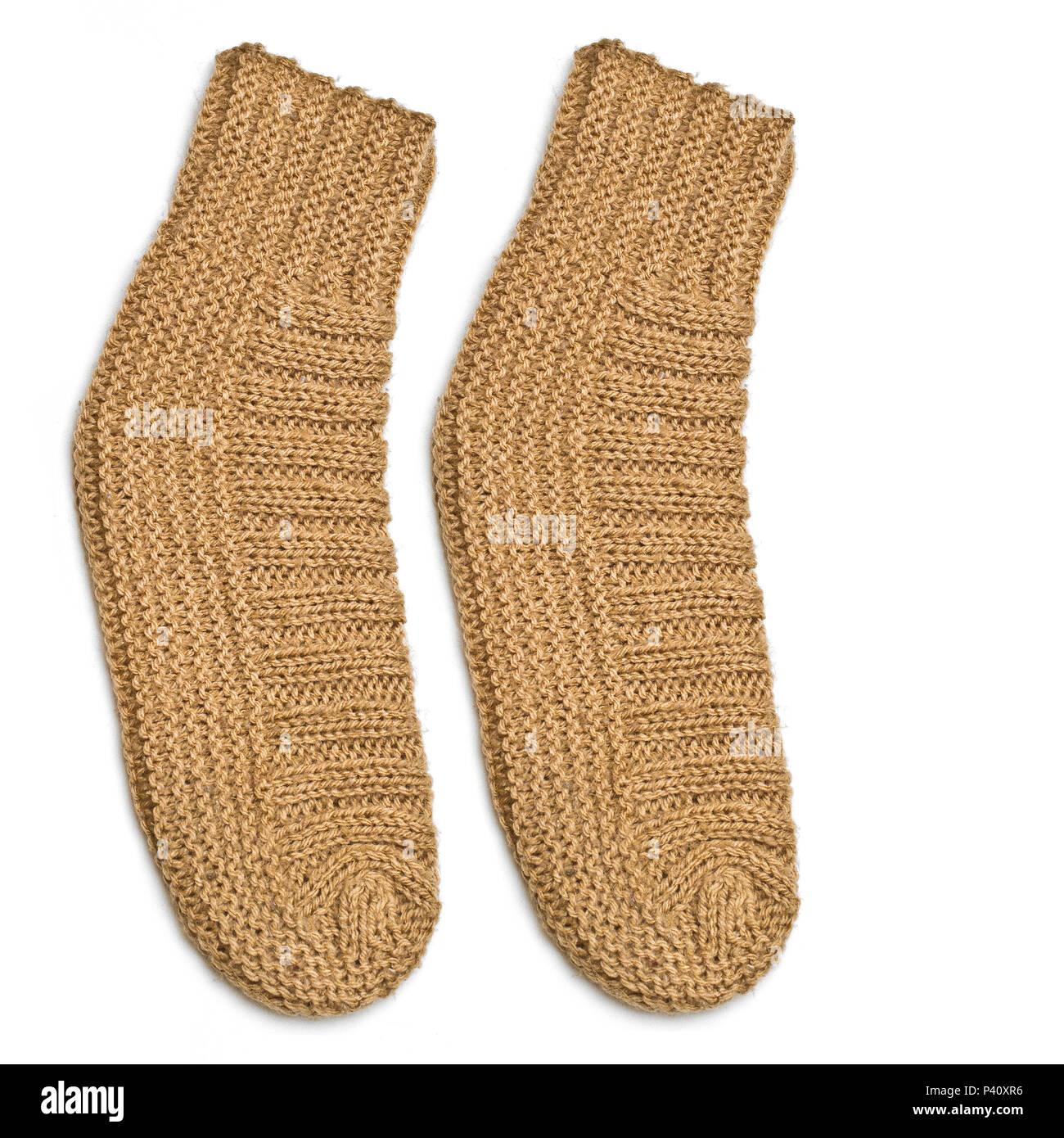 Par de meias de crochê crochê trabalhos manuais acessório de inverno Immagini Stock