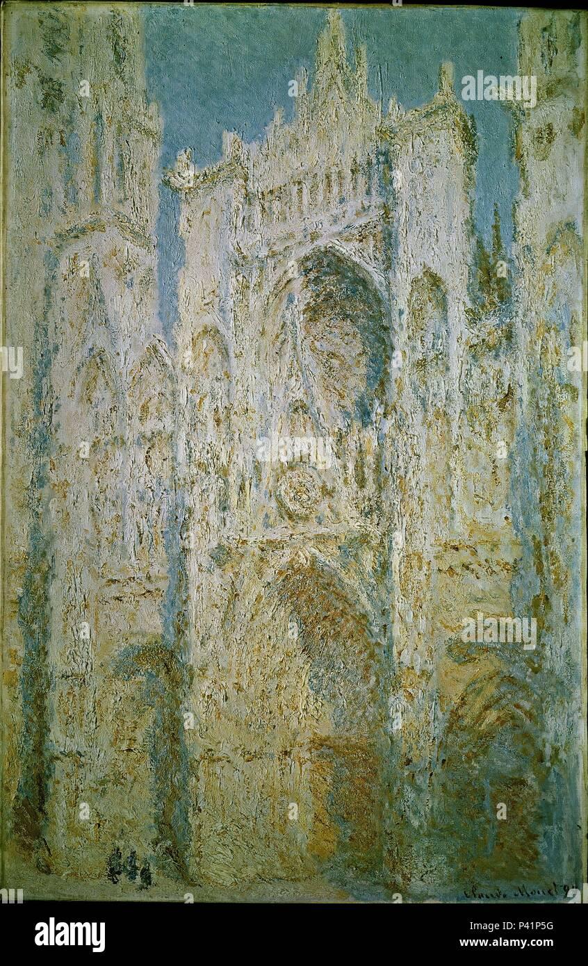 Alla Francese Posizione scuola di francese. cattedrale di rouen, facciata ovest