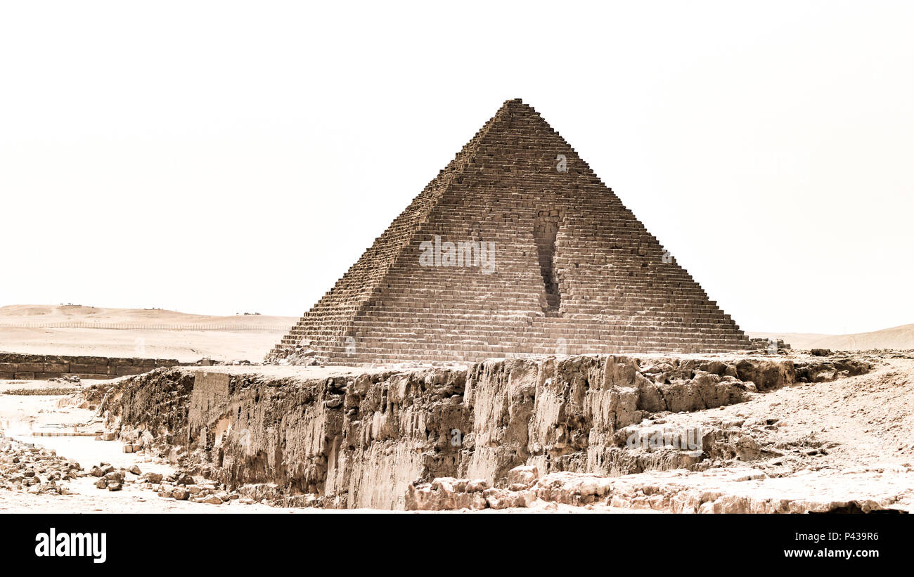 Le Piramidi di Giza a Il Cairo Foto Stock