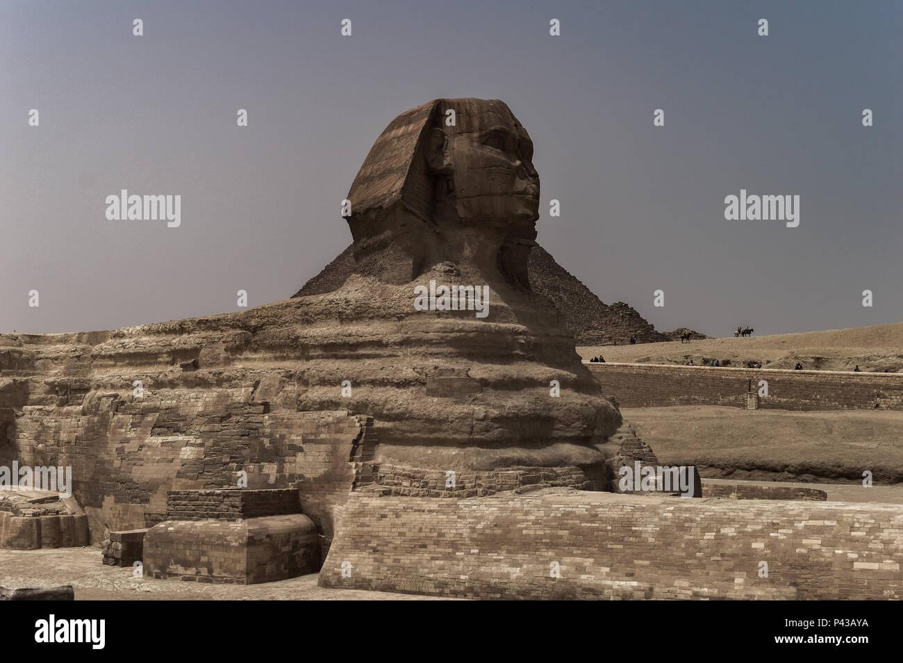 Le Piramidi di Giza a Il Cairo Immagini Stock