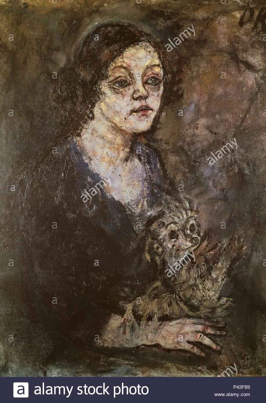 RETRATO DE ELSA KUPFER - 1931 - EXPRESIONISMO austriaco. Autore: Oskar Kokoschka (1886-1980). Posizione: il Kunsthaus di Zurigo, Svizzera. Immagini Stock