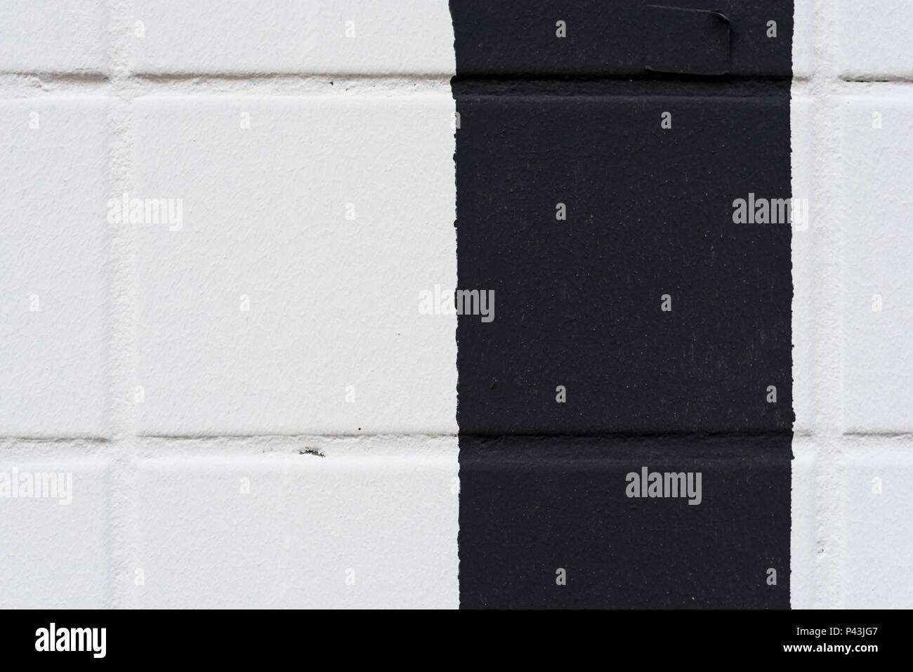 Piastrelle bianche e nere. linea nera dettaglio. piastrelle come