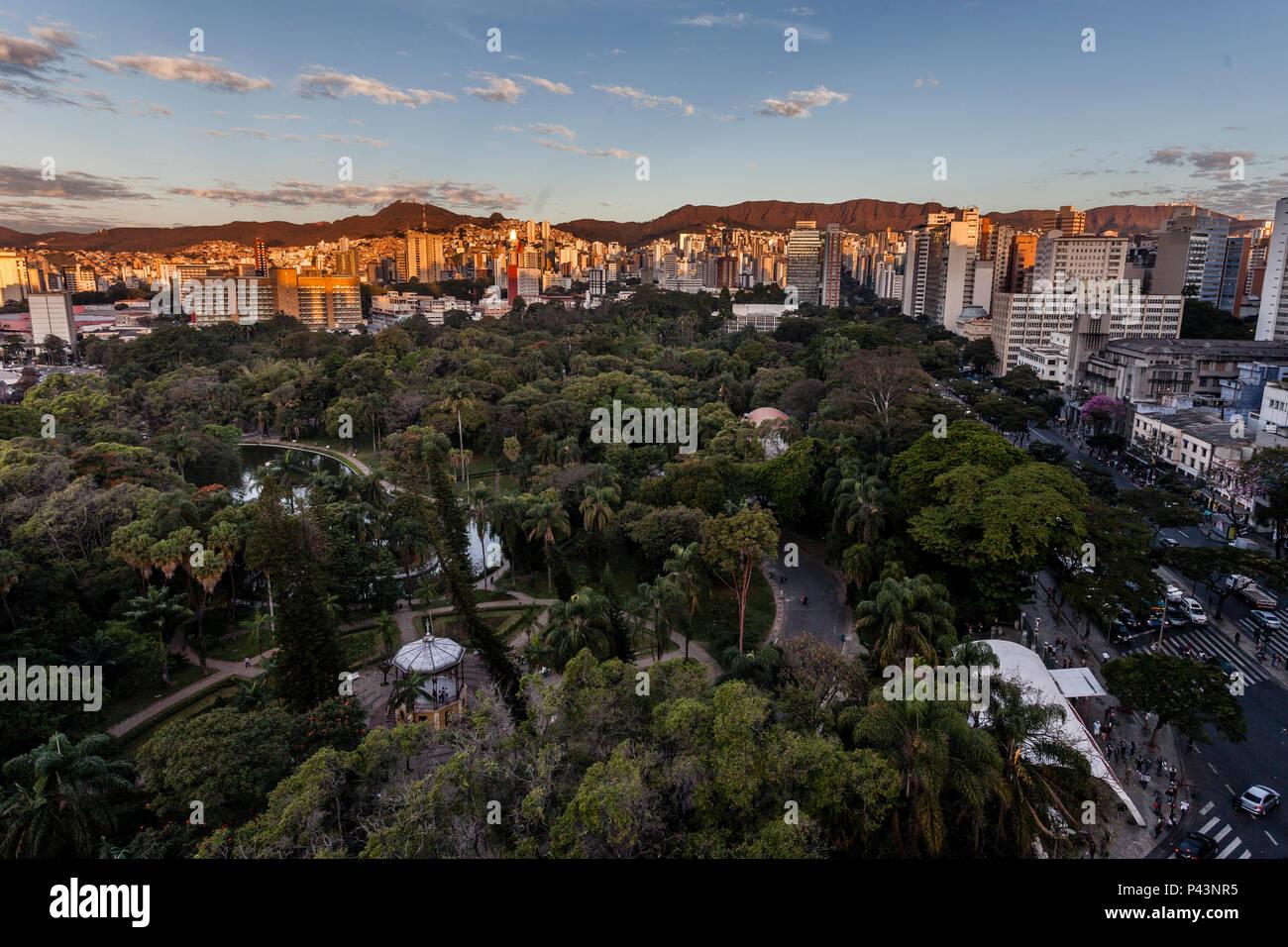 Parque Municipal Américo Renné Giannetti, Belo Horizonte / MG - Brasil. foto: Nereu JR / Fotoarena Immagini Stock