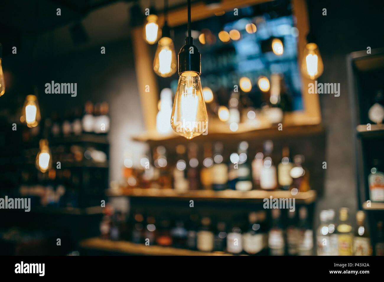 Lusso vintage illuminazione interna decor. vecchio vintage lampadina