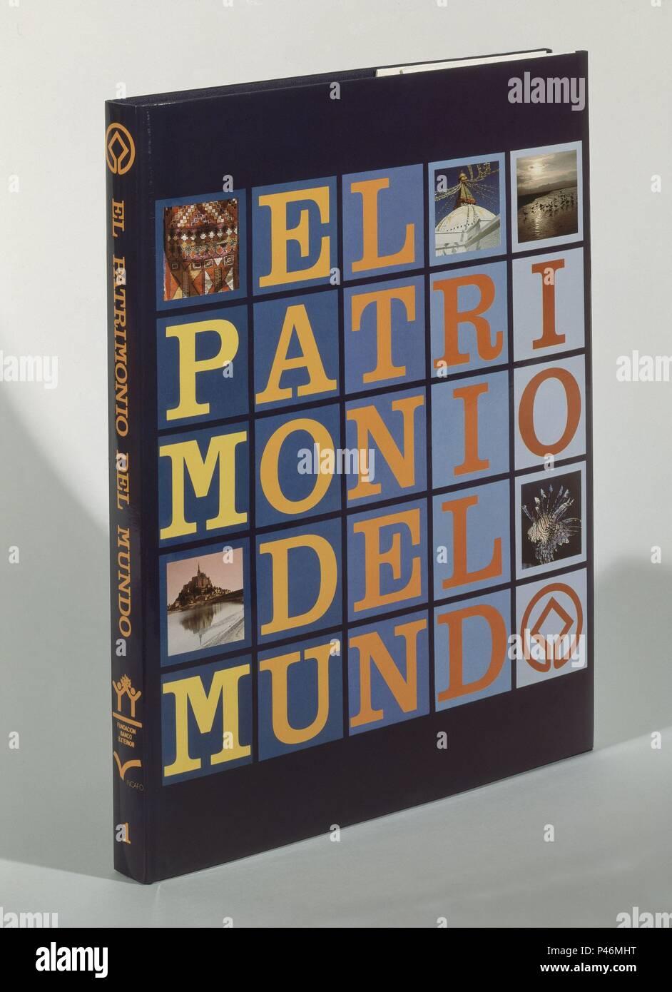LIBRO EL PATRIMONIO DEL MUNDO. Immagini Stock