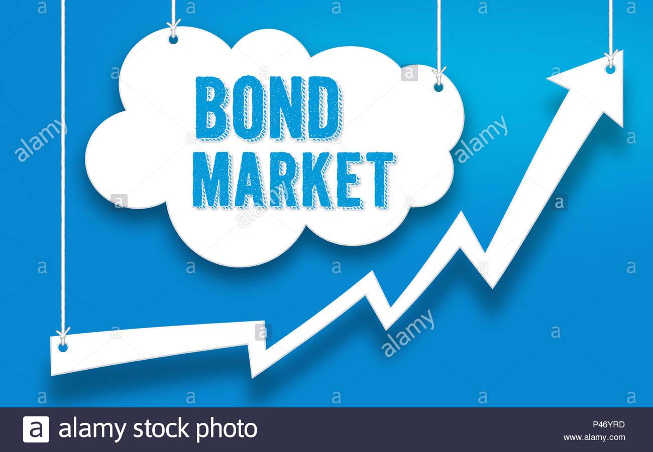 Mercato obbligazionario Concetto di investimento Immagini Stock