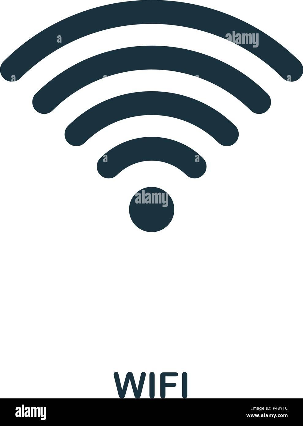 Wi Fi icon  Linea di icona di stile design  UI  Illustrazione di wi