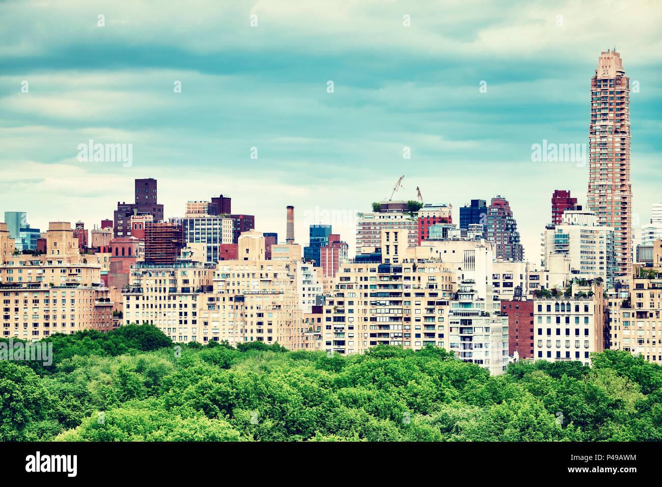 Central Park e Manhattan Upper East Side, dai toni di colore ...