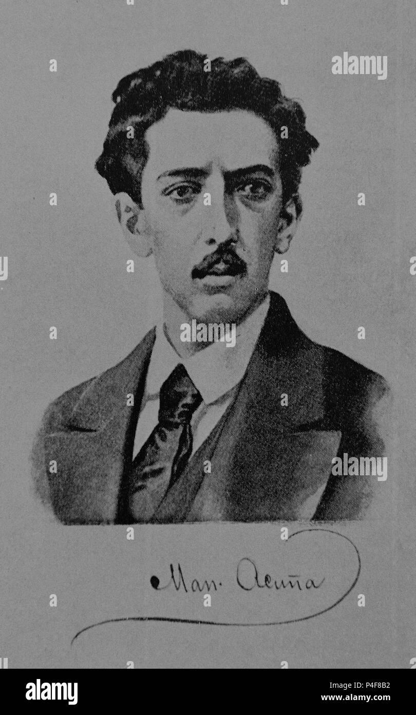 MANUEL ACUÑA - 1849/1873 - POETA MEXICANO - romanticismo. Immagini Stock