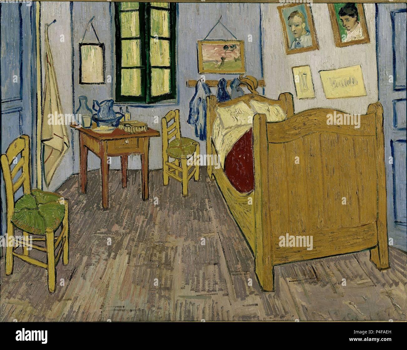Scuola olandese. Van Gogh la camera da letto di Arles. 1889. Olio su ...