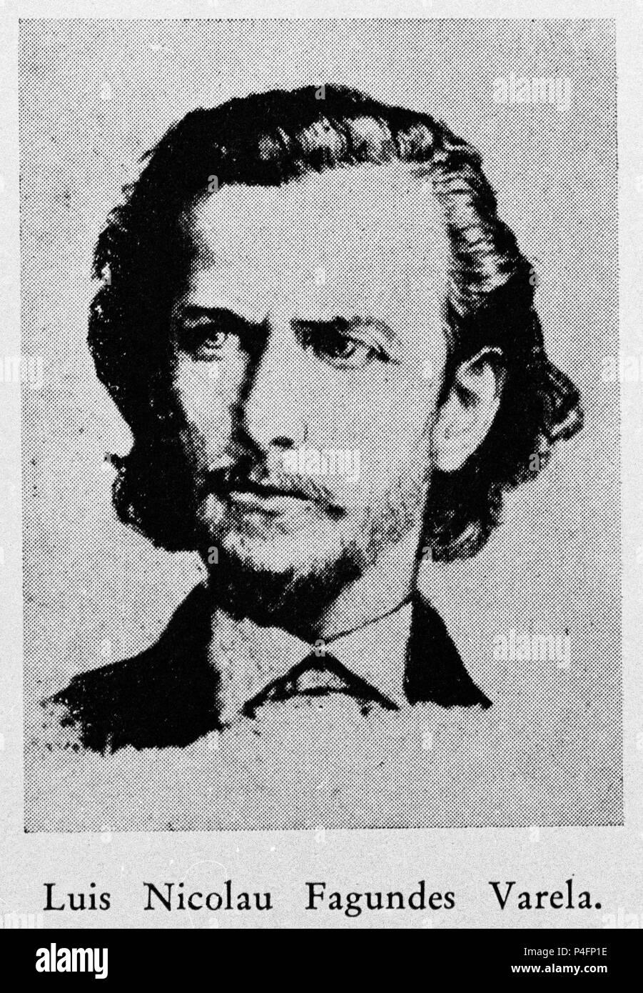 LUIS FAGUNDES VARELA (1841/1875) - POETA BRASILEÑO - romanticismo. Immagini Stock