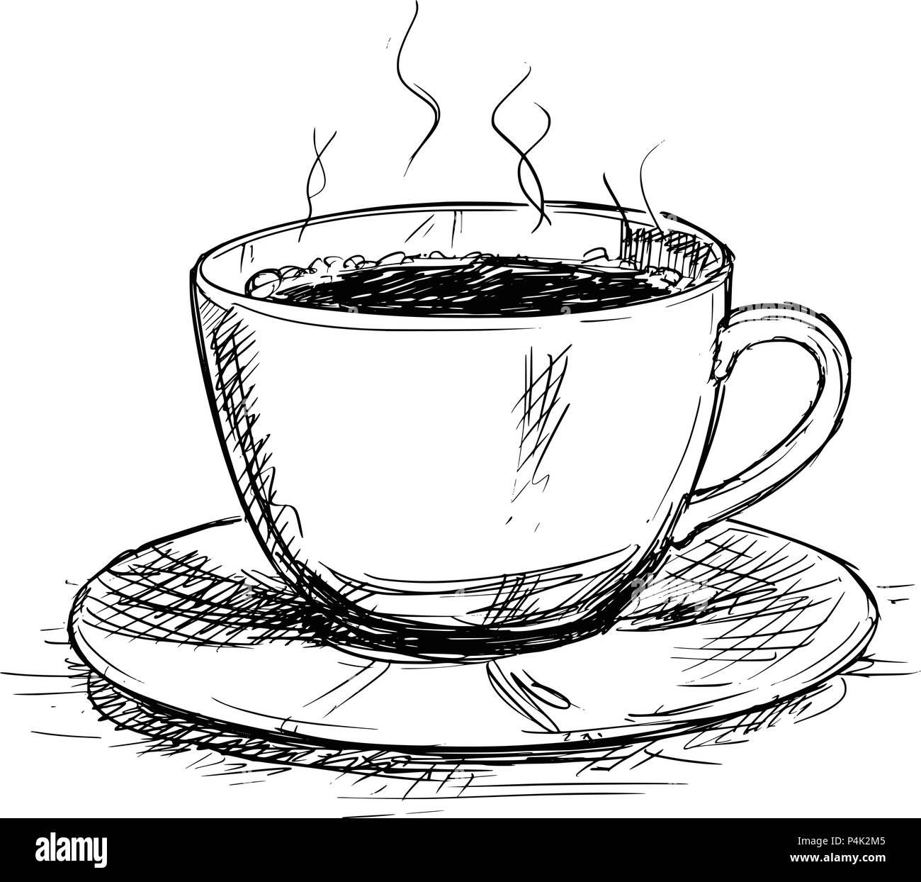 Vector Disegno Illustrazione Della Tazza Di Caffè Illustrazione