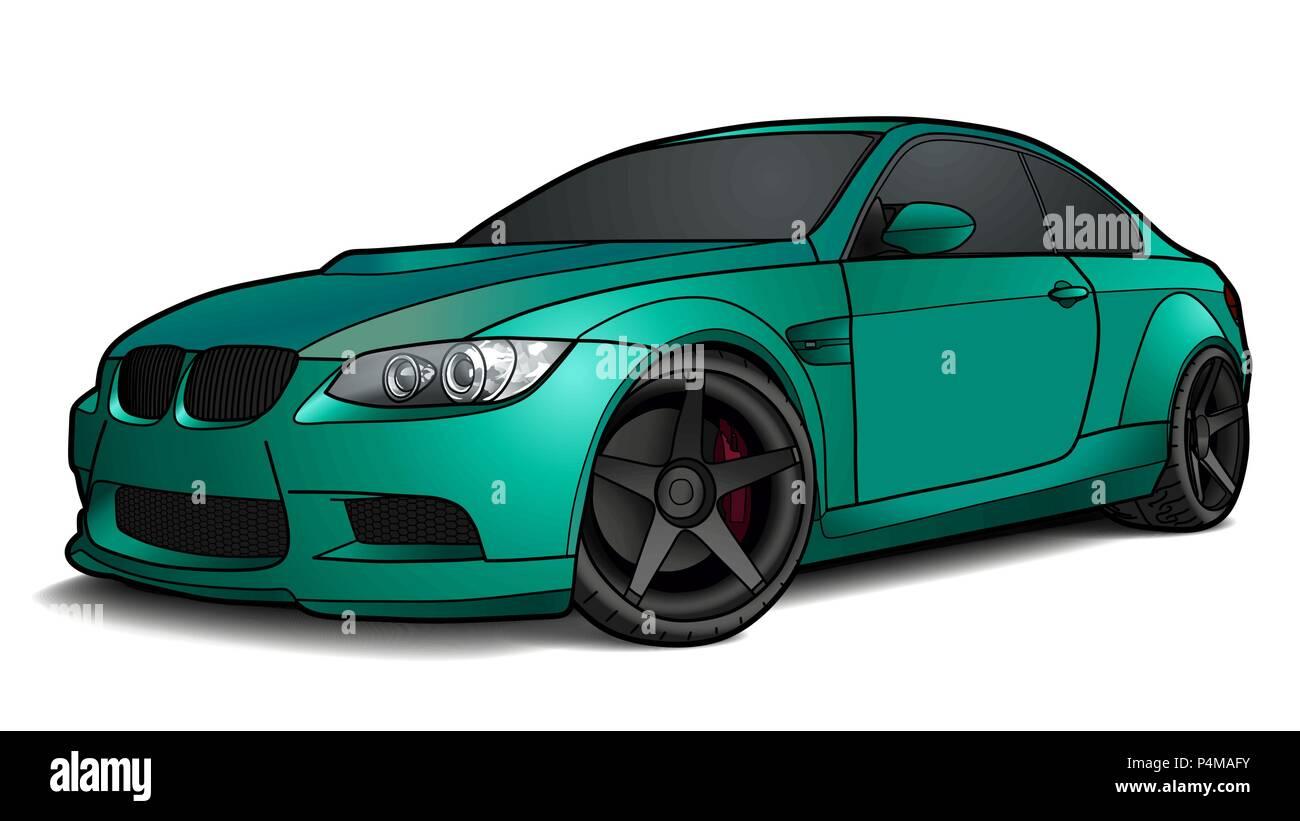 Opzione Personalizzata Pr : Vettore dettagliate disegnare un piatto auto sportive con