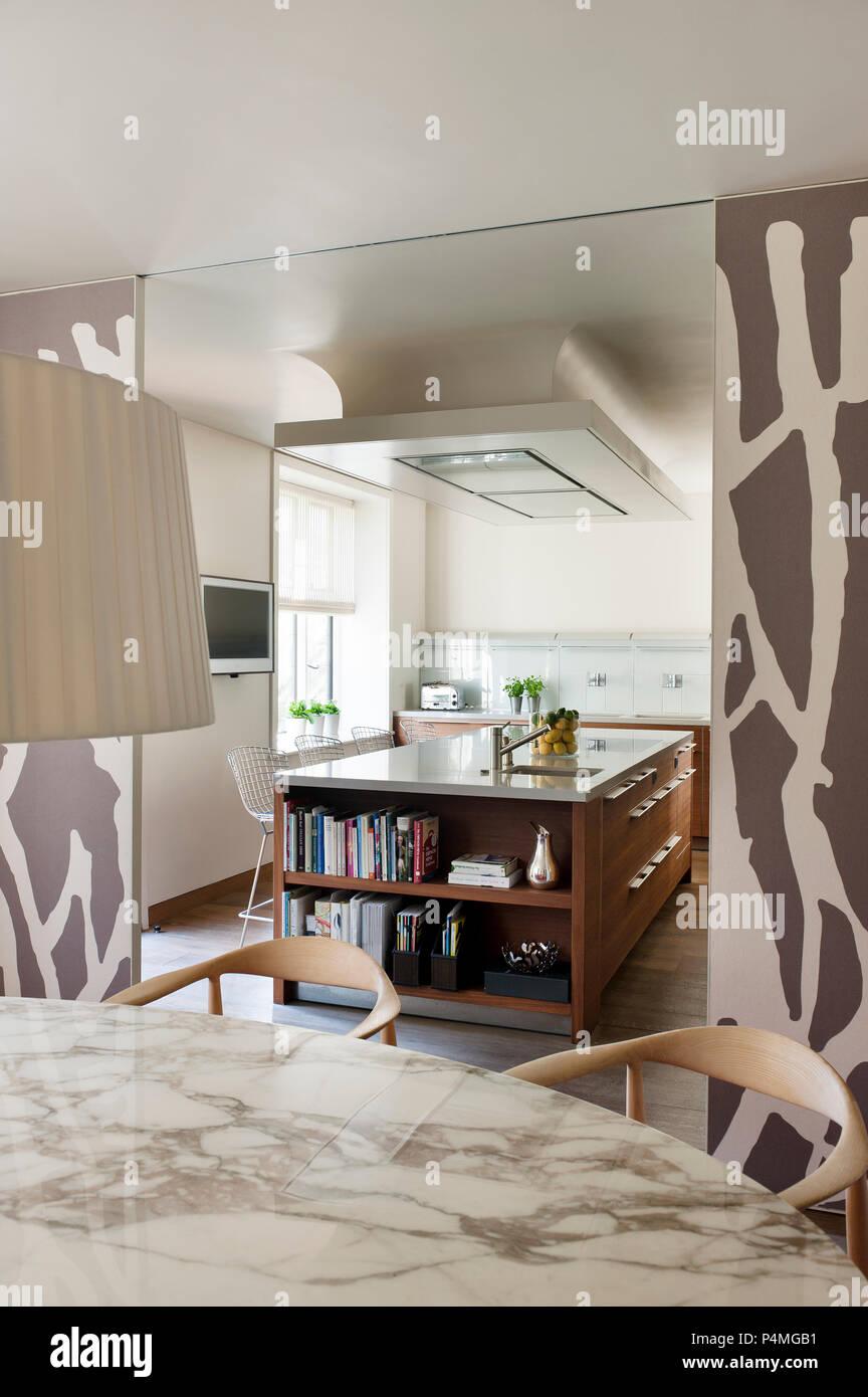 Cucina Con Vetrata Scorrevole sala da pranzo moderna con porte scorrevoli per cucina foto