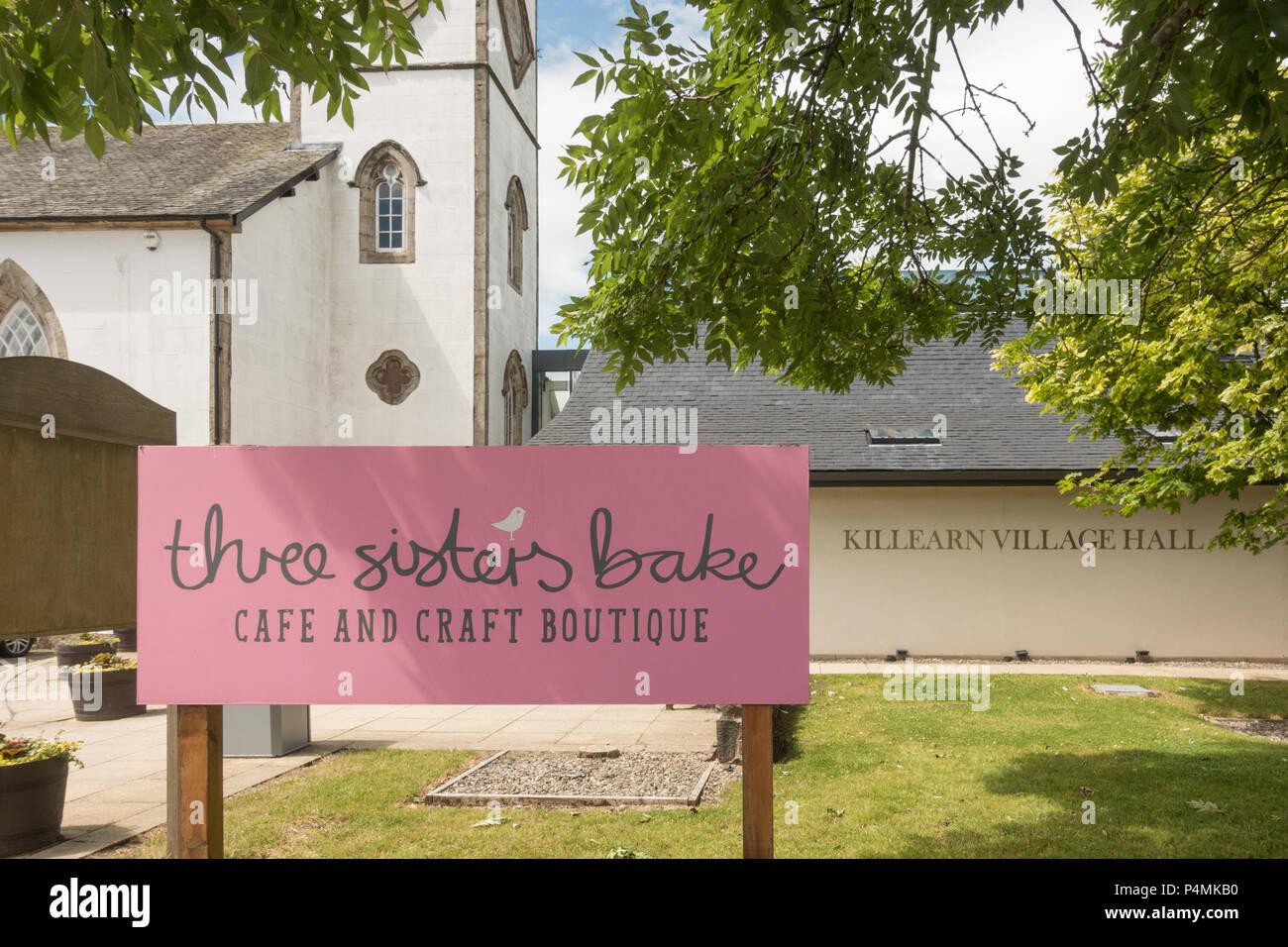 Le tre sorelle cuocere cafe, a Killearn, Stirlingshire, Scotland, Regno Unito Immagini Stock