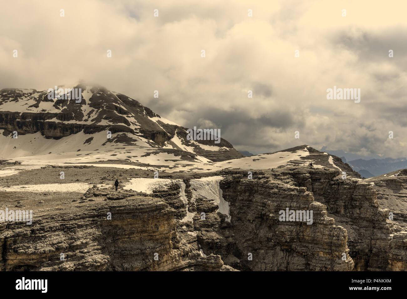 Vista Delle Dolomiti Dal Sass Pordoi Terrazza Foto Immagine Stock