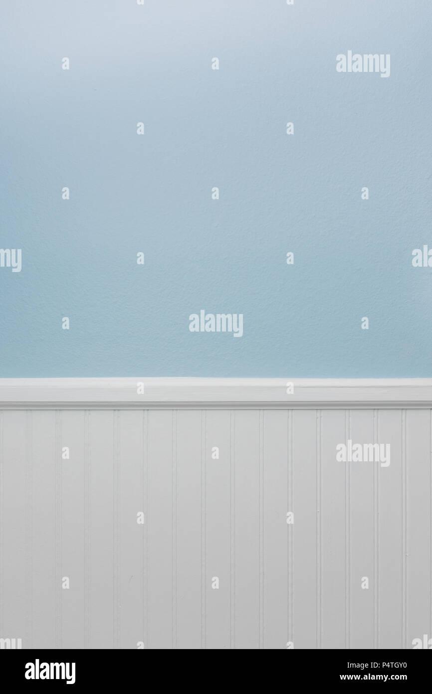 Boiserie Bianco Azzurro Muro Di Vernice Sfondo Foto Immagine