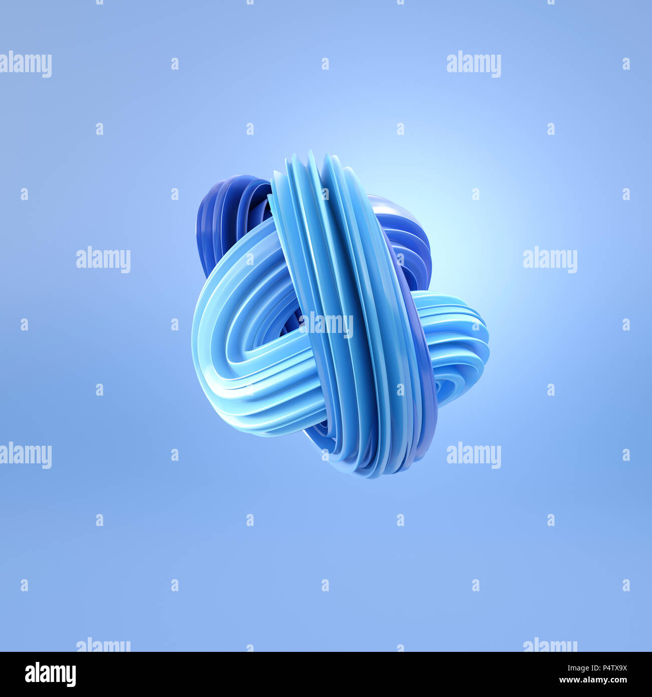 Abstract swirl blu, rendering 3D Immagini Stock