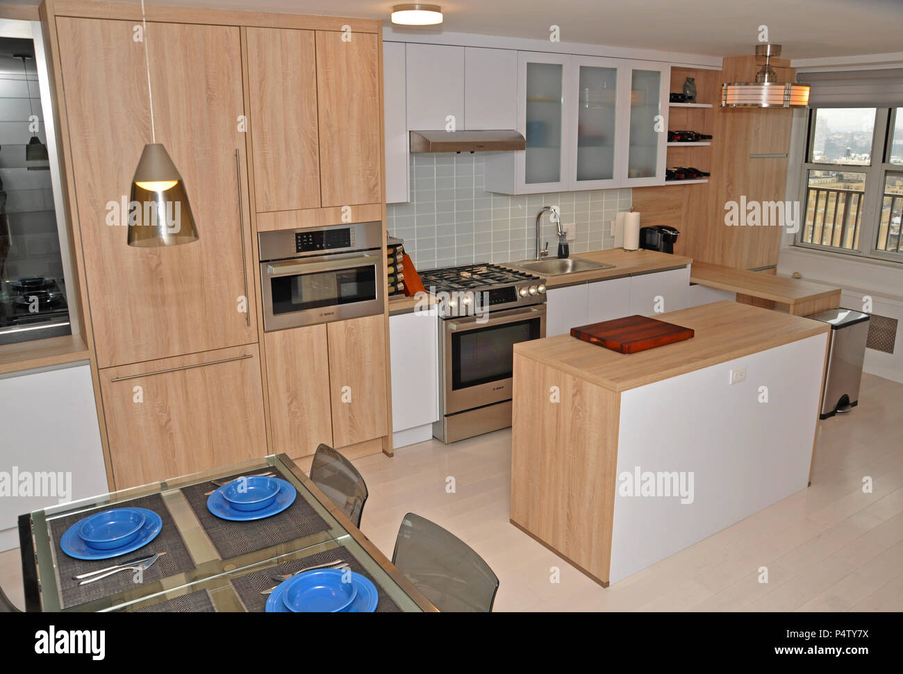 New York Ny Foto Interne Di Un Piccolo Appartamento Di Manhattan