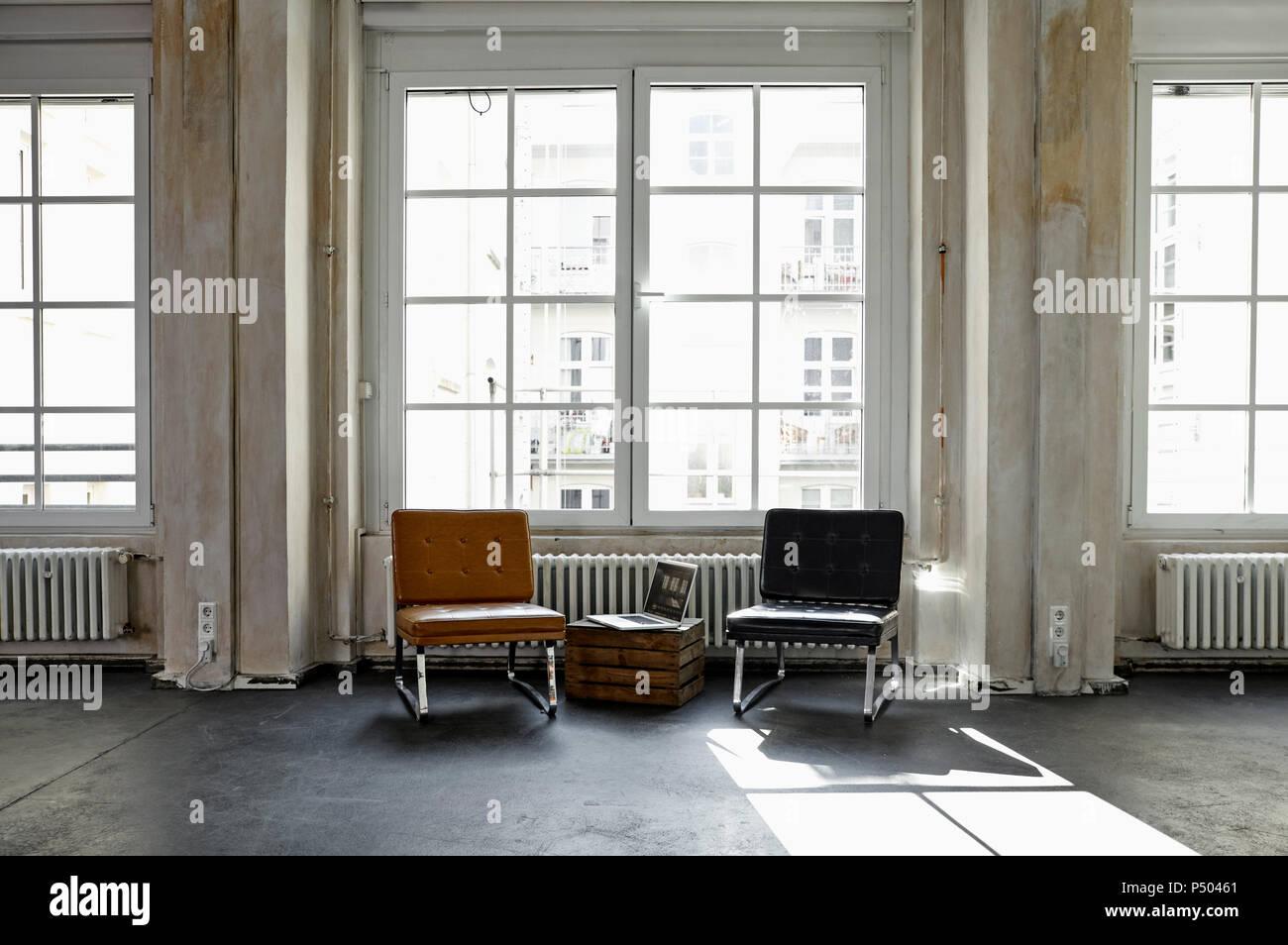 Interno di un appartamento loft Immagini Stock