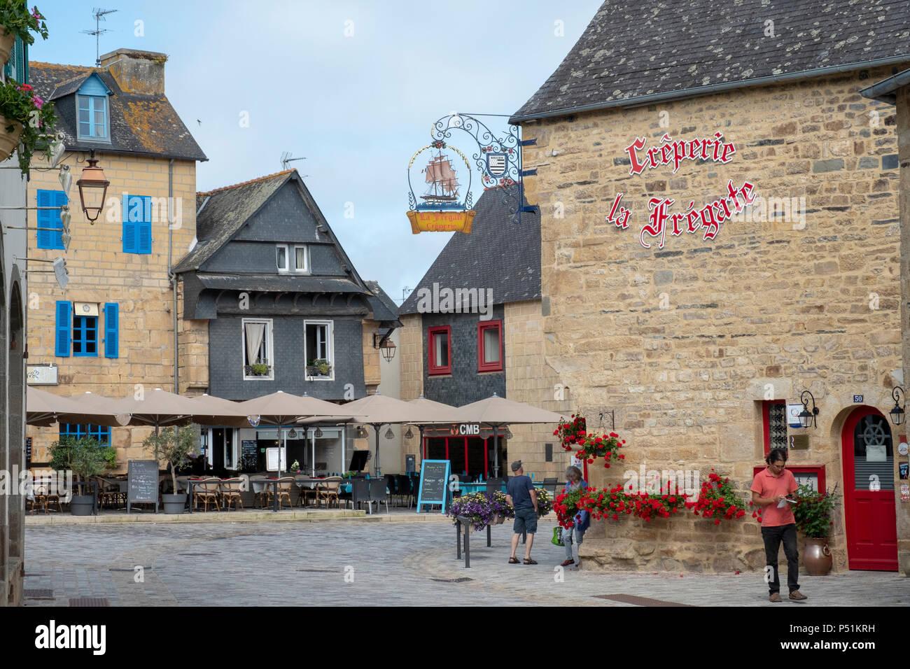 La Fregata ristorante Creperie in La Faou, Bretagna Francia Foto Stock
