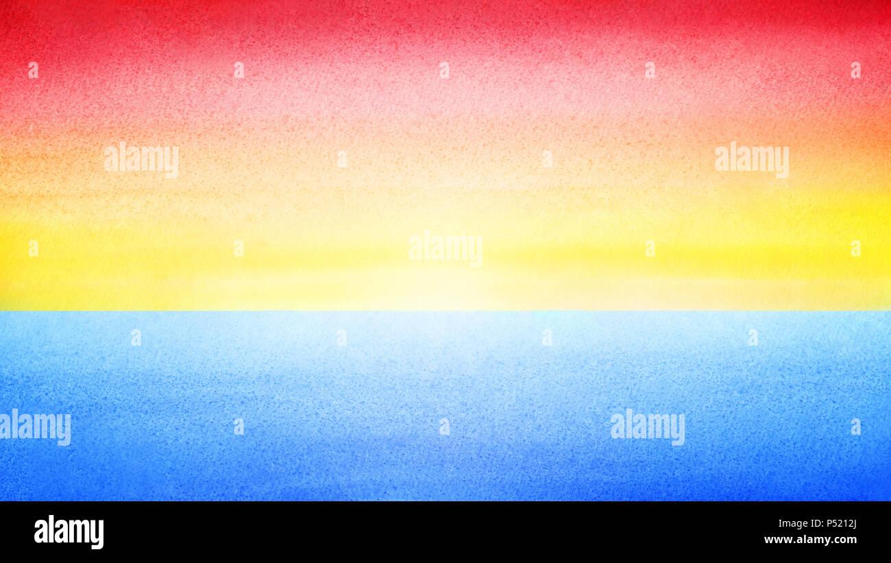 Cielo Luminoso Colorato Banner Orizzontale Allalba O Al Tramonto