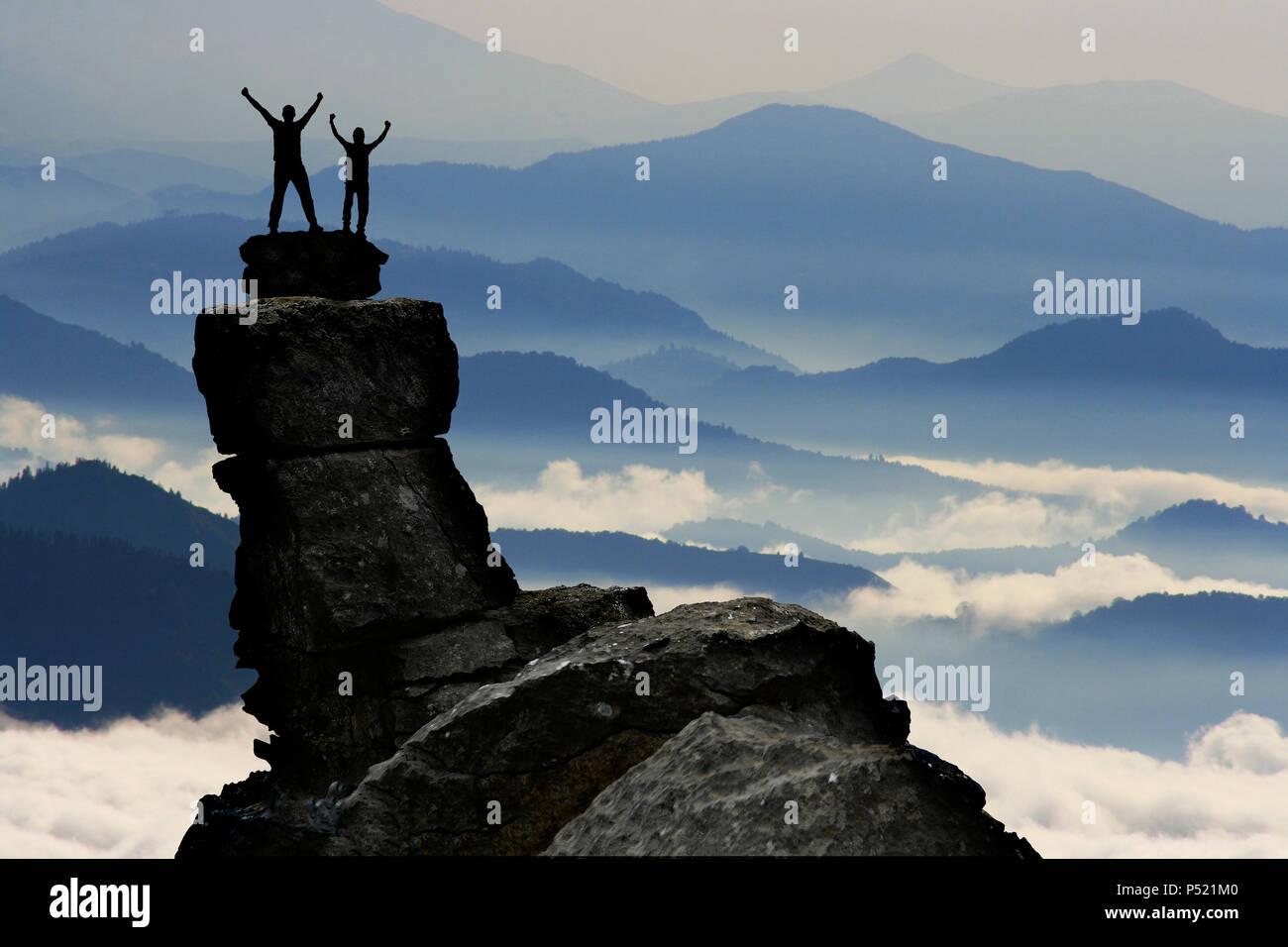Strategia di successo e determinati e la fiducia in sé stessi Immagini Stock