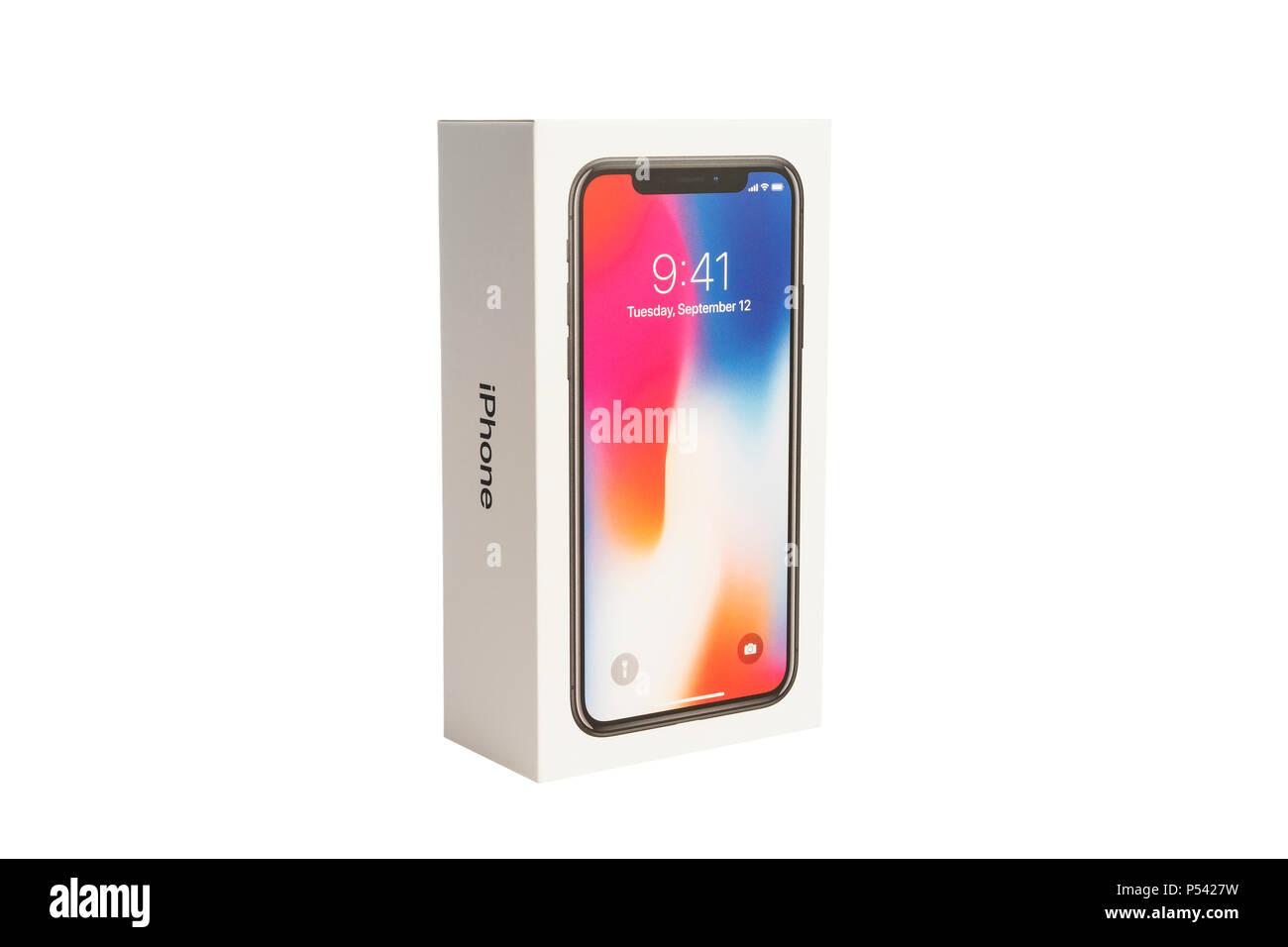 Katrineholm Svezia 5 Gennaio 2018 Apple Iphone X E La Casella Su