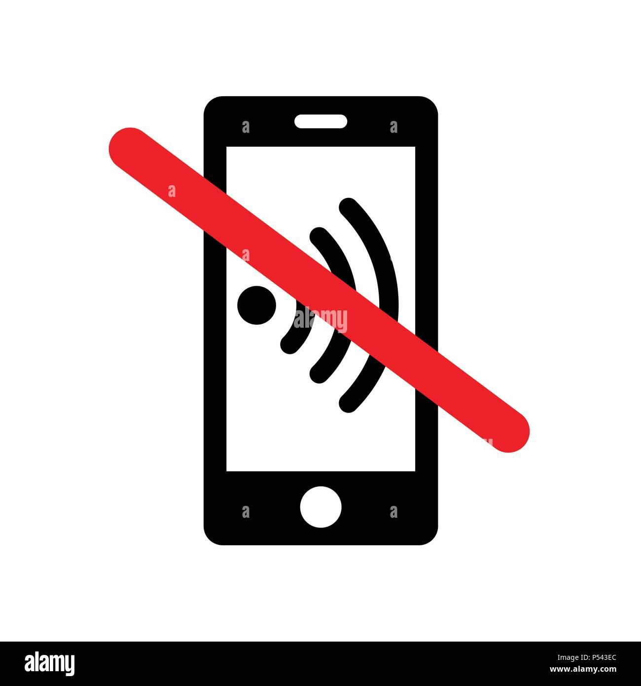 Si prega di disattivare la suoneria del telefono mobile - segno di avvertimento Immagini Stock
