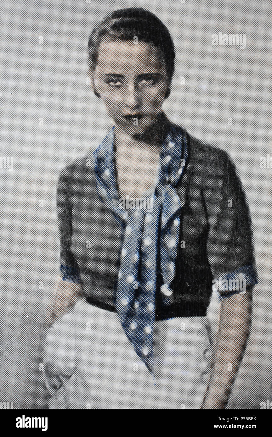 "Dorothea Wieck (3 gennaio 1908 del World Economic Forum di Davos, in Svizzera â€"" 19 febbraio 1986 a Berlino, Germania ovest) era un teatro tedesco e attrice cinematografica, digital impr Immagini Stock"