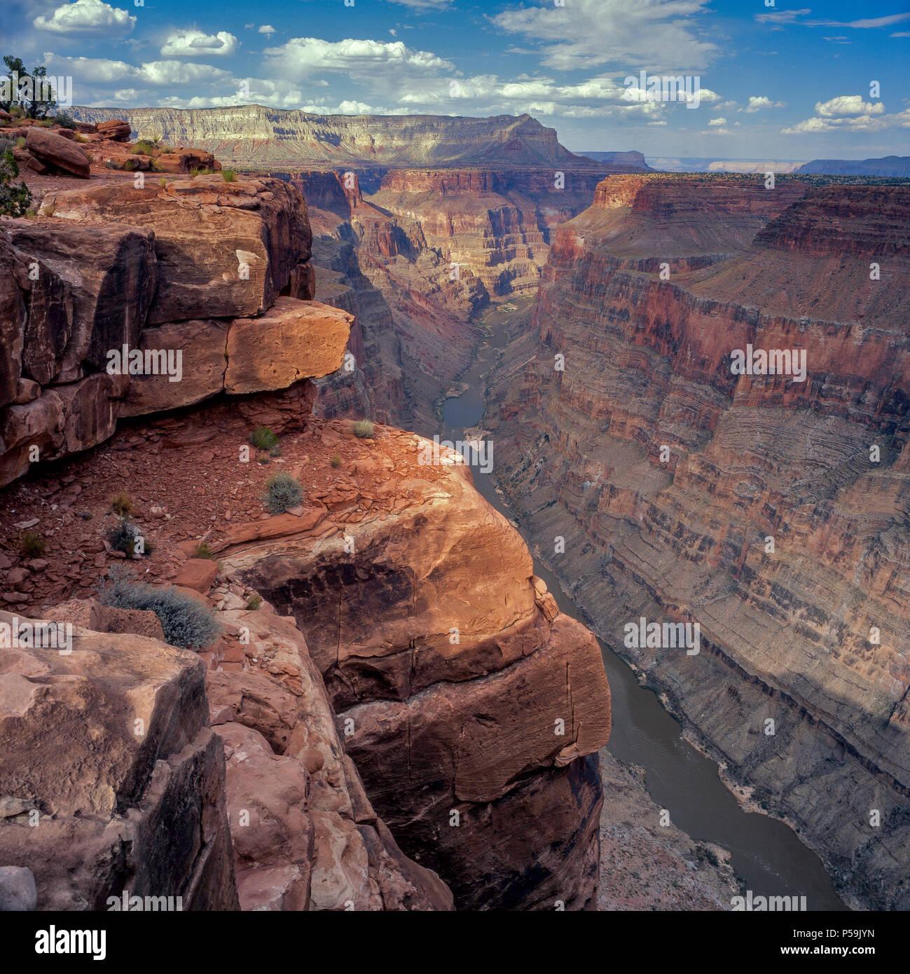 Il fiume Colorado, Toroweap si affacciano, il Parco Nazionale del Grand Canyon, Arizona Immagini Stock