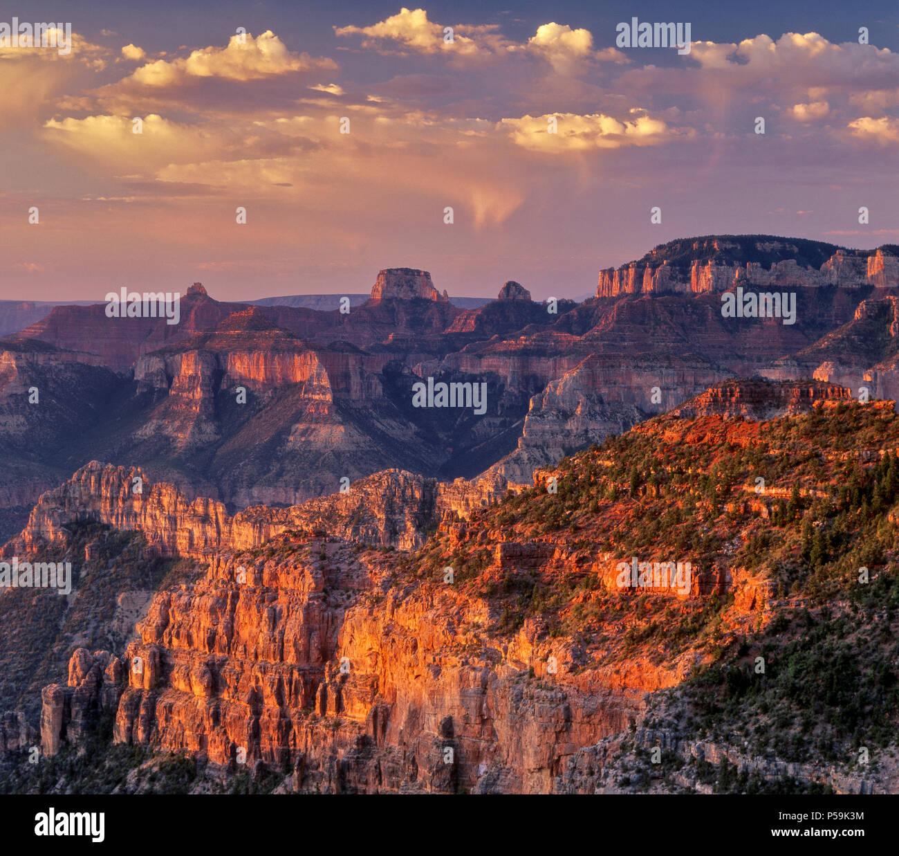 Sunrise, Nankoweap Canyon, il Parco Nazionale del Grand Canyon, Arizona Immagini Stock