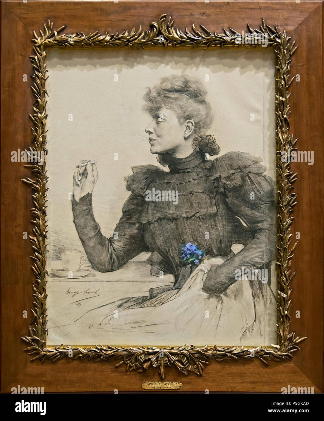 Augustins - Après déjeuner, 1899 Amélie Beaury-Saurel 151 Augustins - Après déjeuner, 1899 Amélie Beaury-Saurel Foto Stock