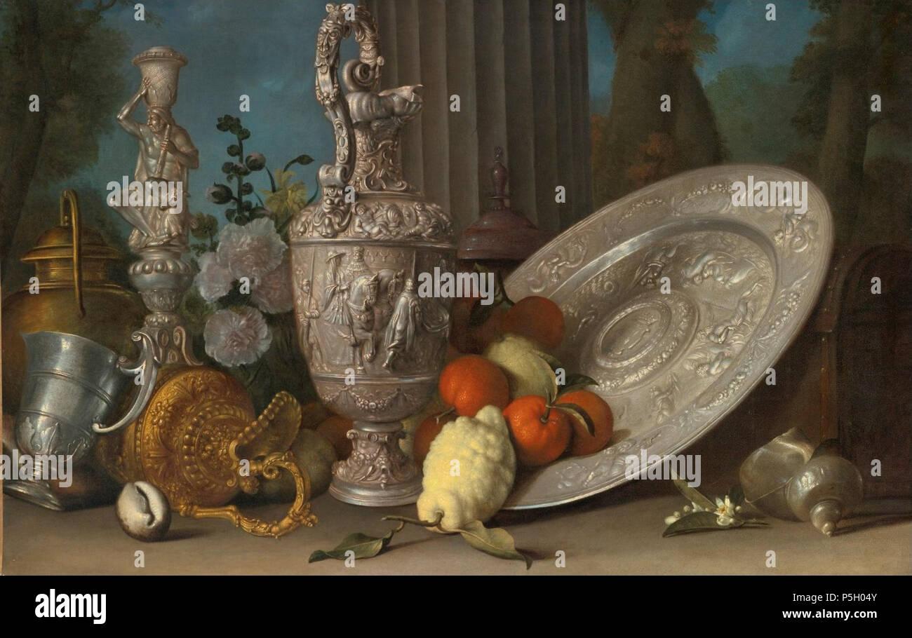 La Credenza In Inglese : N a inglese ancora vita con hercules candelabro in argento