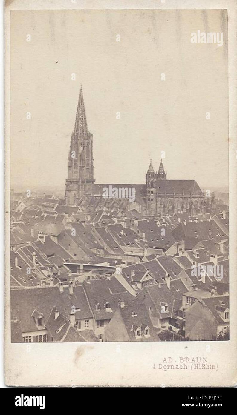 N A Deutsch Altstadt Und Munster Von Freiburg Im Breisgau Vom Schwabentor Aus Gesehen Carte De Visite Braun Aldolph Um 1860