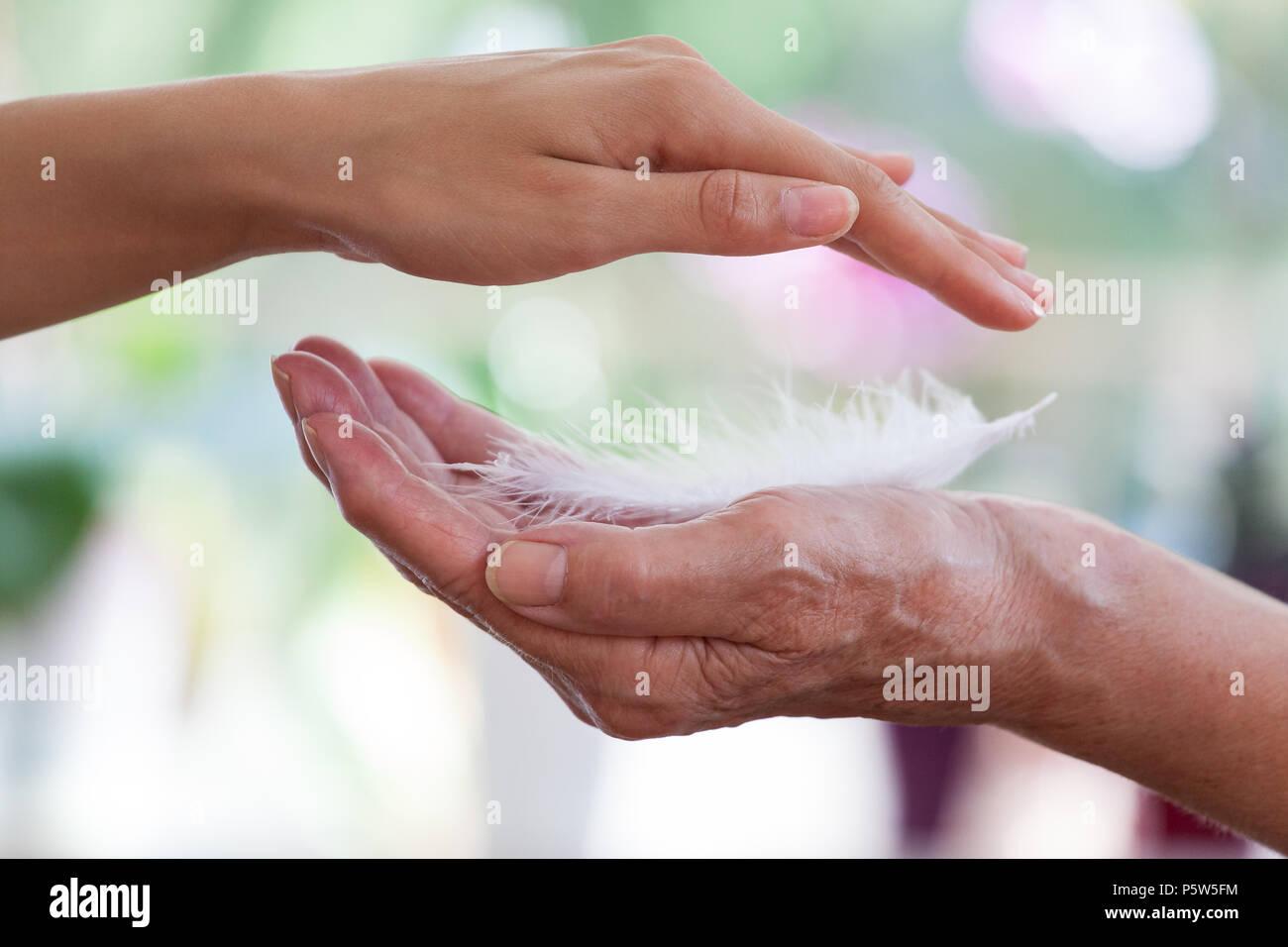 Demenz Beratung Handeln Hilfe consulting help Immagini Stock