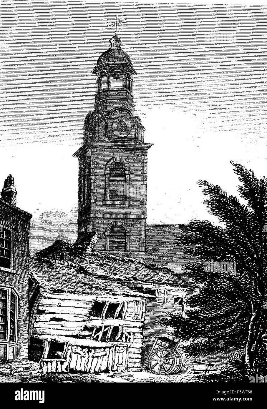 N/A. Inglese: La mia scansione del mio stampa di Cristo ch nel 1817 . La mia scansione 2008. Morì C xix secolo 343 la Chiesa di Cristo Southwark 1817 Immagini Stock