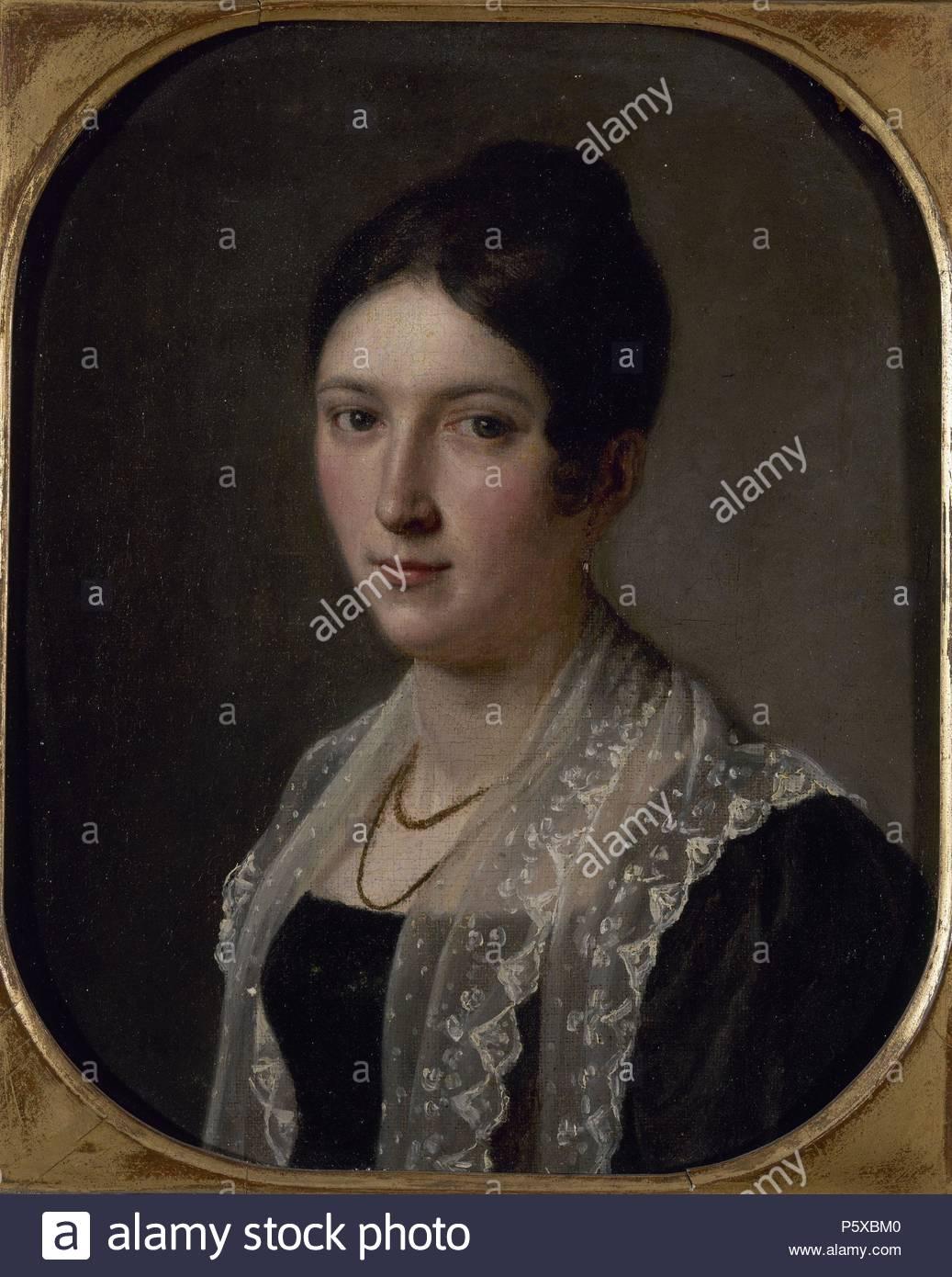 RETRATO FEMENINO - siglo XIX - ROMANTICISMO ESPAÑOL. Posizione: Collezione privata. Immagini Stock