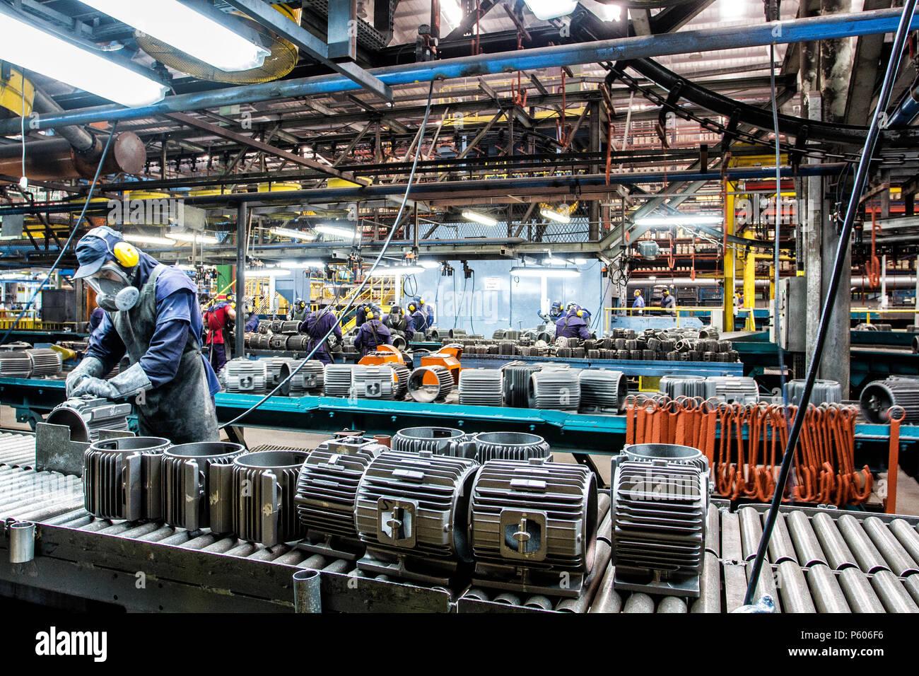 Fabbricazione stabilimento industriale nel sud del Brasile. Immagini Stock