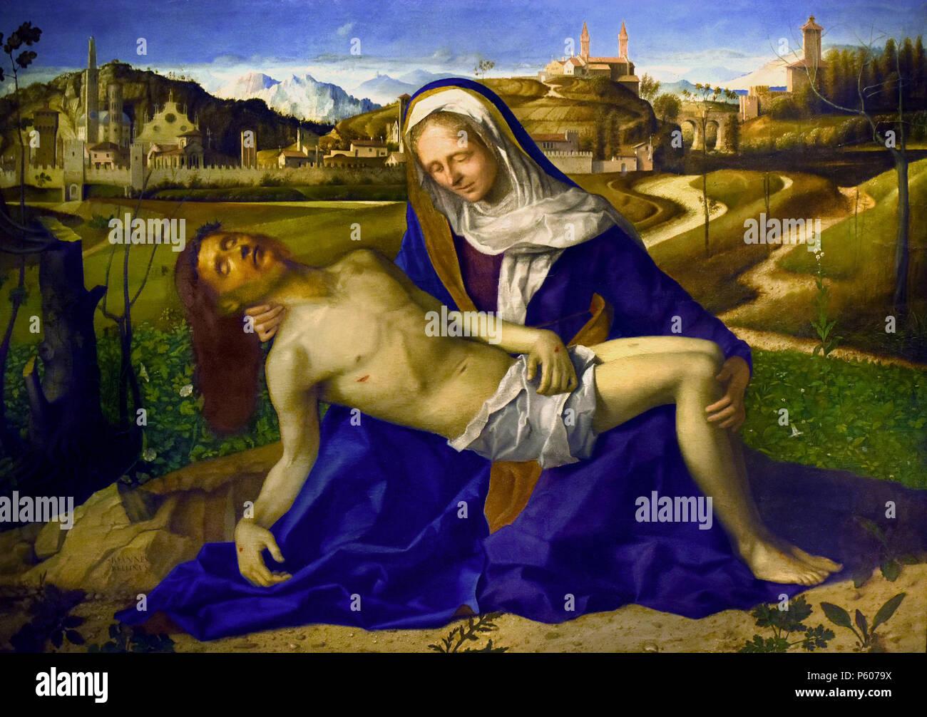 Peccato, Pietà di Giovanni Bellini Venezia 1434/1439 - 1516, l'Italia, ITALIANO, Immagini Stock