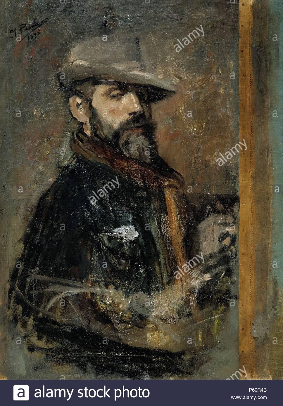 Ignacio Pinazo Camarlench    self-ritratto dipinto (Giovane con un cappello )