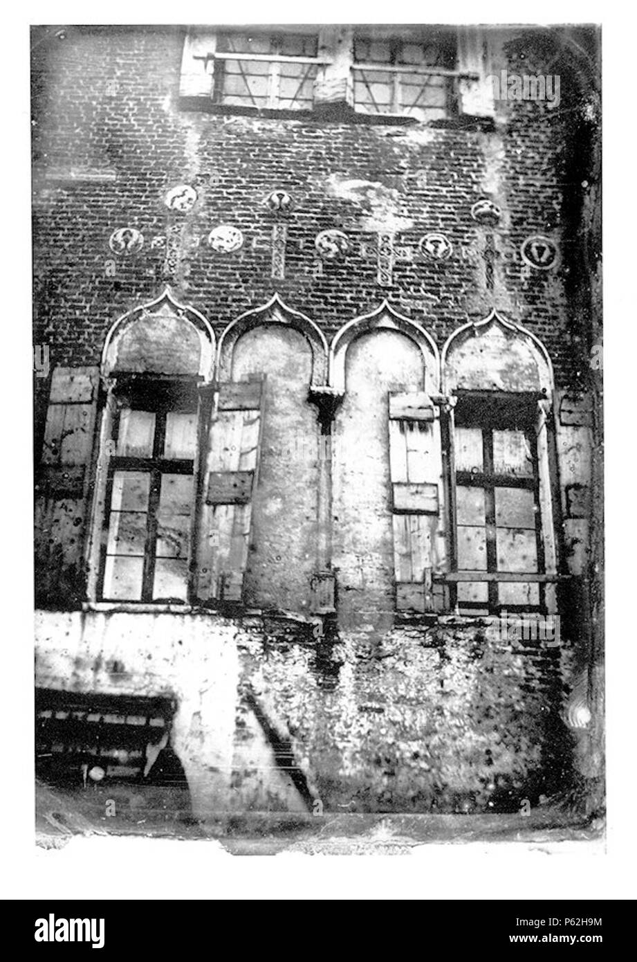 N A Inglese Daguerreotype Di Una Quadrifora Bizantina Nella