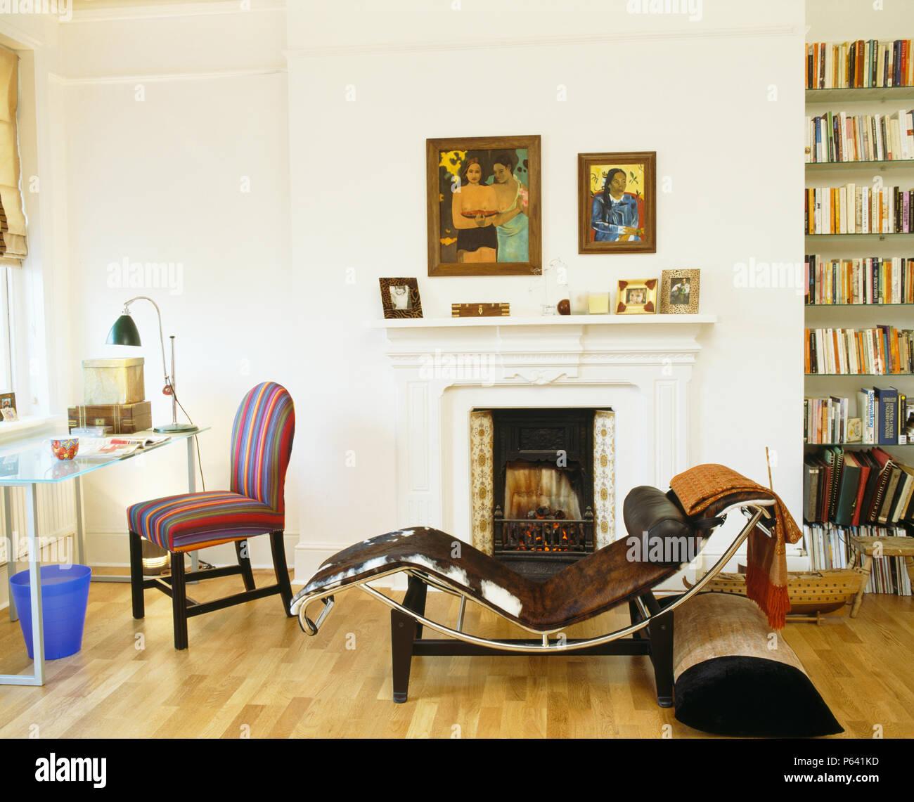 Salotto Le Corbusier.Le Corbusier In Pelle Nera E Cromo Chaiselongue In Moderno