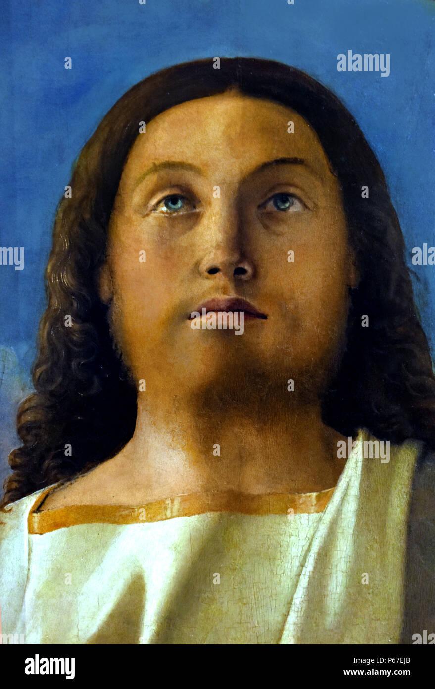 Testa del Redentore - Testa di Cristo da parte di Giovanni Bellini ,Venezia, 1434/1439 - 1516 Italia, ITALIANO, Immagini Stock