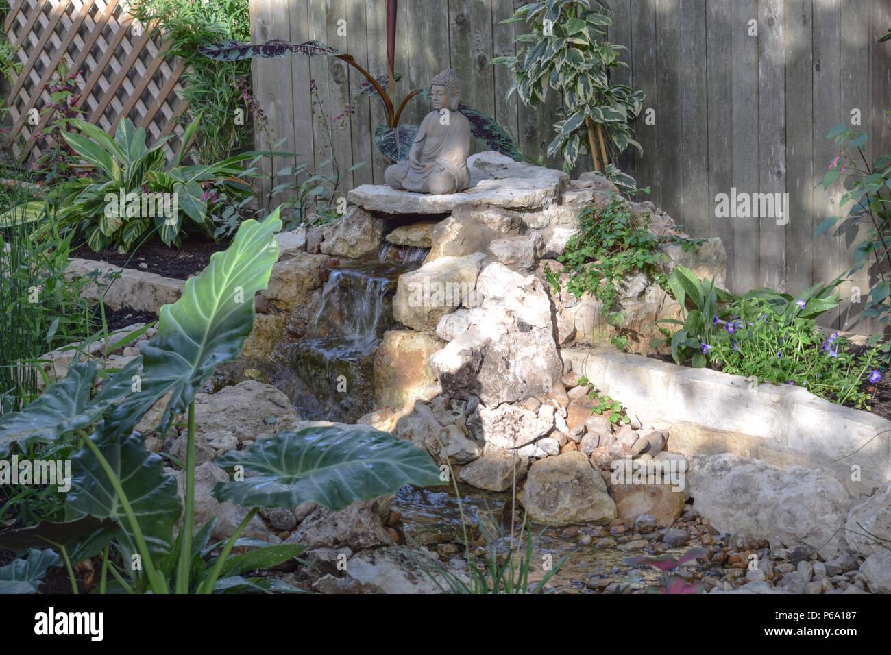 Fai Da Te Giardino Zen fontana di pietra giapponese zen immagini & fontana di